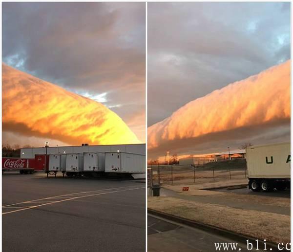 美国惊现牵牛花云类似暗影怪物 古怪云层让人震惊